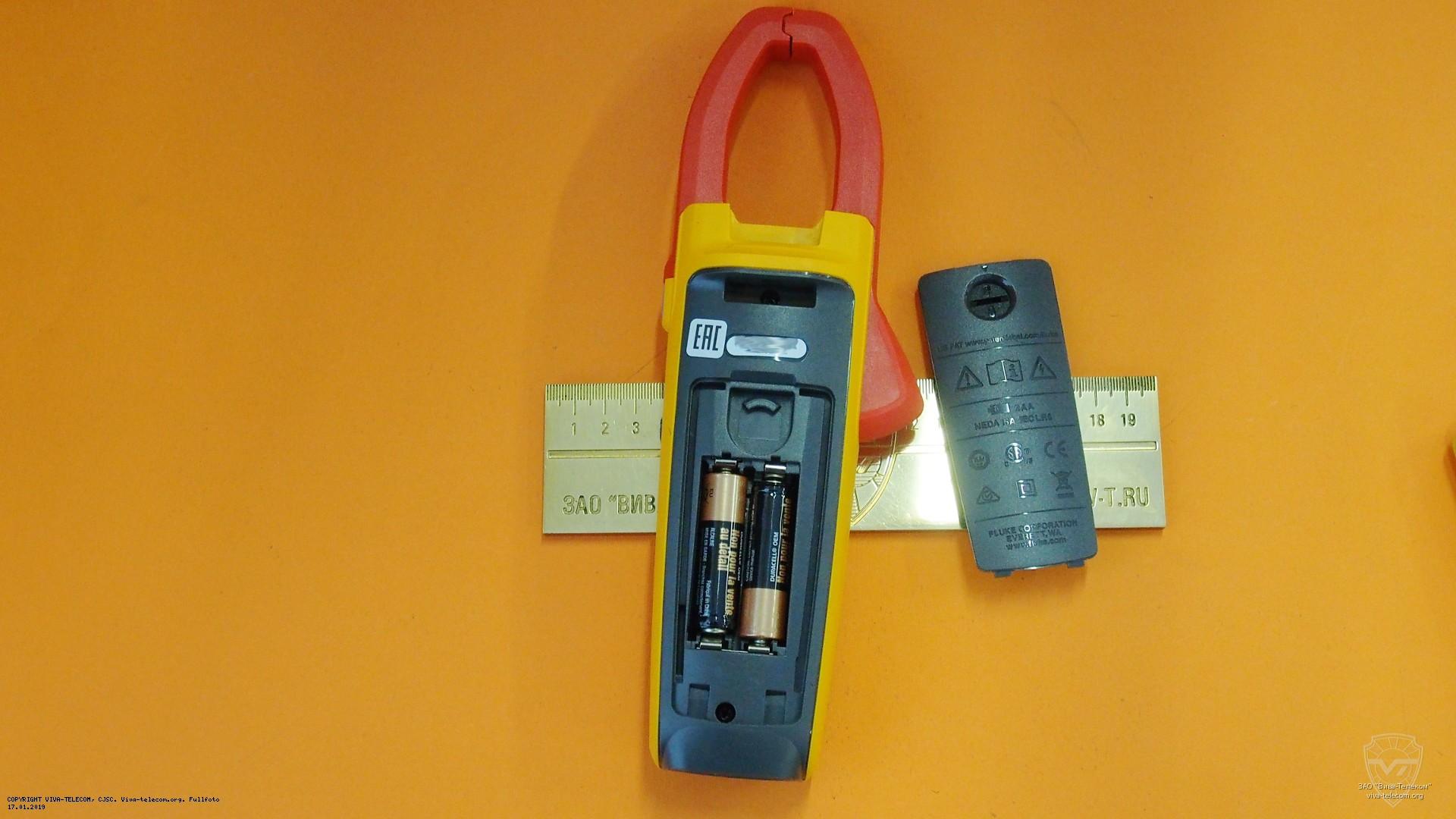 Батарейный отсек Fluke 376, элементы питания | фотография от