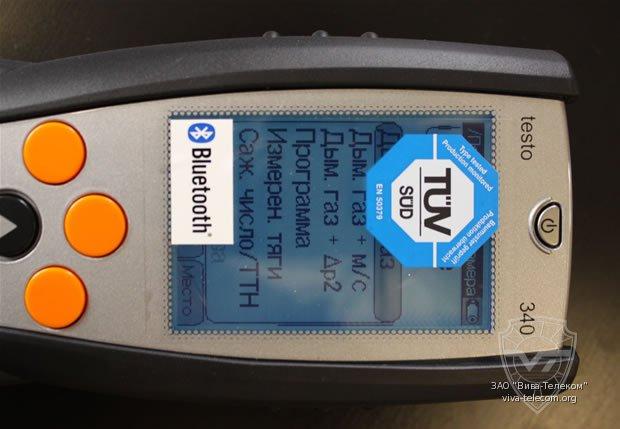 Экран газоанализатора Testo-340.