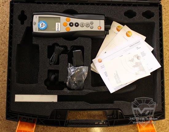 Стандартная комплектация газоанализаторов Testo-340