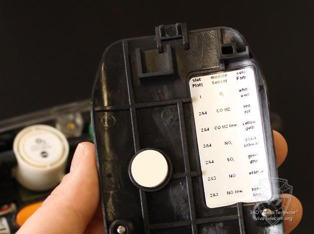 Установка измерительных модулей в газоанализатор